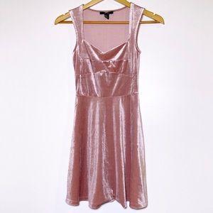 Forever 21 Velvet Aline Dress with Bustier